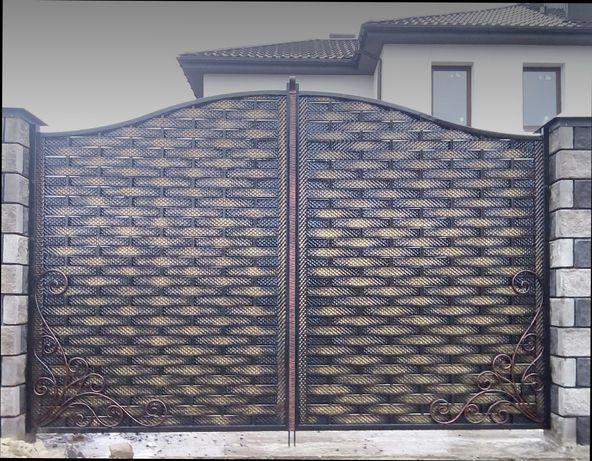 Полоса декоративная металлическая плетенка для забора, ворот/ Прокат