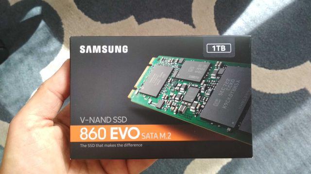 Dysk SSD Samsung 860 EVO 1TB M.2 SATA. Nowy. Zaplombowany.