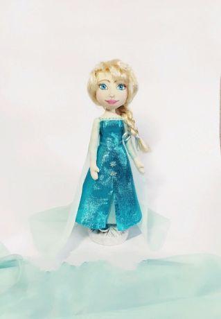Принцесса Эльза ( Ледяное сердце), текстильная кукла ручной работы