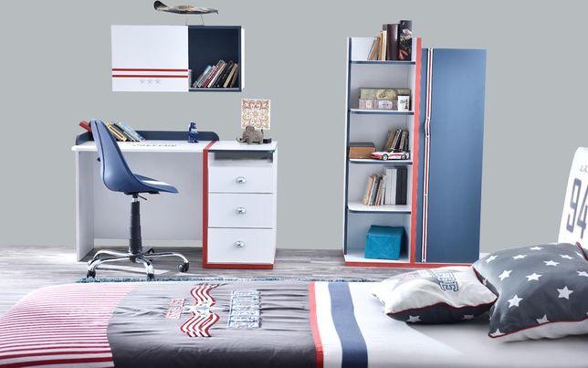 Meble młodzieżowe łóżko z pojemnikiem na pościel COLLEGE ZESTAW -30%