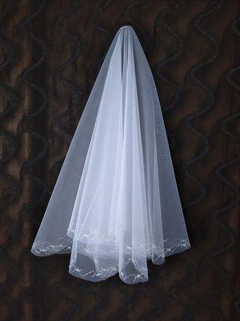 Фата, свадебная фата, ручная вышивка