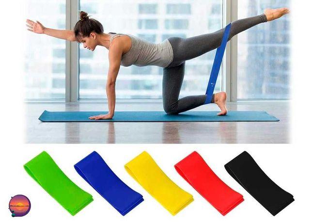 Фитнес резинки Bodbands Набор эластичных лент для спорта, фитнеса 5 шт