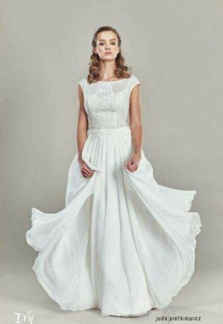 Suknia ślubna muślin S