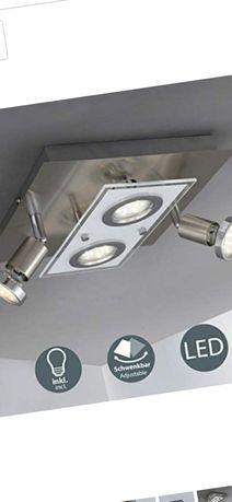 B.K.Licht Obrotowa lampa sufitowa LED