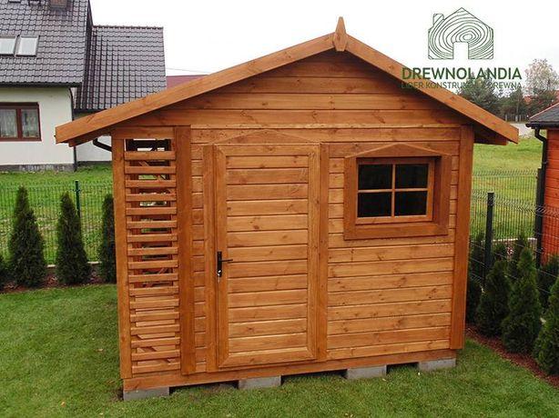 Drewniany magazynek ekspresowa dostawa drewutnia altanka altana