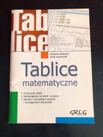 """Tablice matematyczne"""