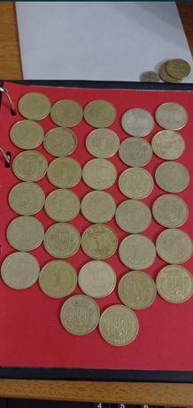 Монеты 1 Гривна разных годов