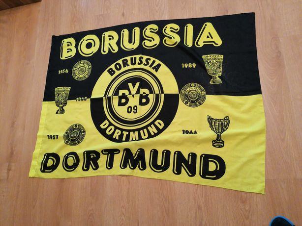 Flaga Borussia Dortmund oldschool 132x98cm z ok. 1990roku