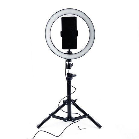 Кільцева лампа 30 см зі штативом 2 м