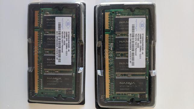 Pamięć RAM 2x 256MB DDR 333MHz