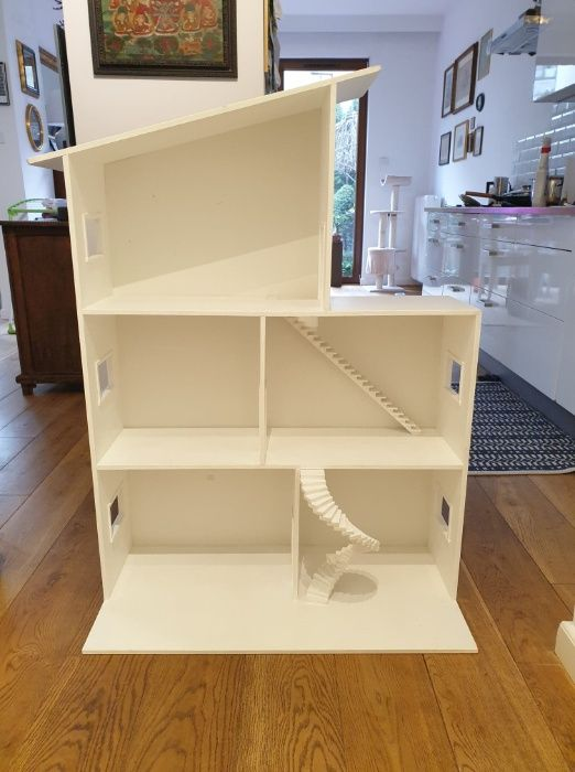 DUŻY, biały, drewniany domek dla lalek Barbie Warszawa - image 1