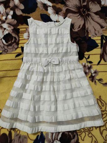 Платье для девочки белое 92 см