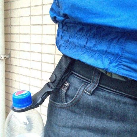 garrafa de agua clip cinto campismo militar caminhadas desporto