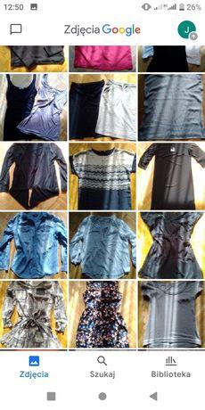 Mega paka markowych ubrań M, idealne lub nowe, bluzki sukienki swetry