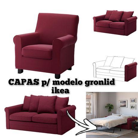 CAPA poltrona ikea gronlid braços sofá 2lugares sofá cama
