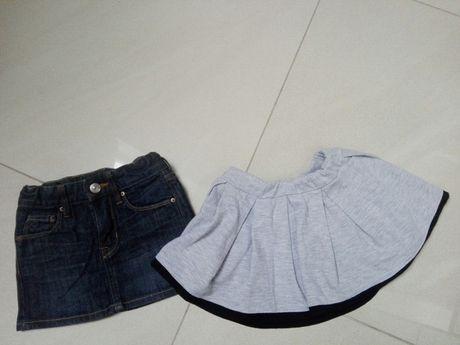 Spódnica, spódniczka h&m 92,jeans, jeansowa