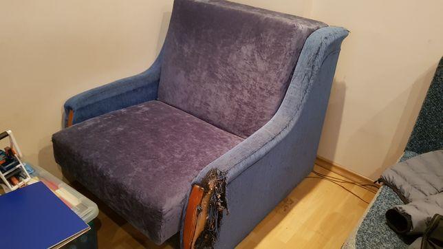 Łóżko rozkładane i fotel