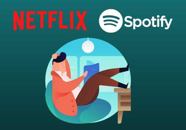 Netflix   HBO   IPLA TV  Spotify   ELEVEN Sports   TIDAL -> AUTOMAT