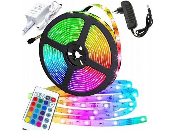 TAŚMA RGB LED wodoodporna 300 SMD 3528 5 METRÓW RGB + zasilacz