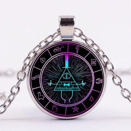 Naszyjnik Steampunk, Bill cipher. Gravity Falls