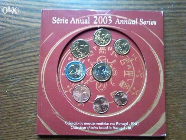 Moedas euro série anual de 2003 bnc