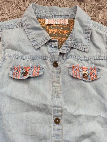 Bluzka jeansowa bez rękawów