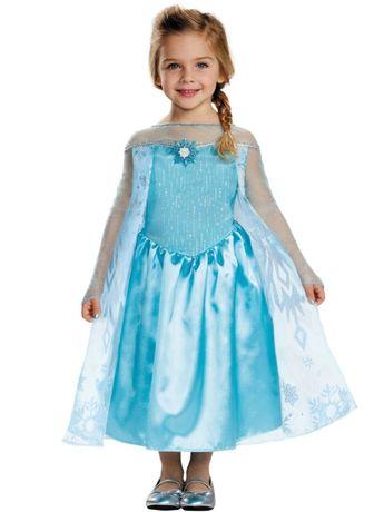 Карнавальный костюм платье принцесса Ельза из Elsa Frozen 124-135 см