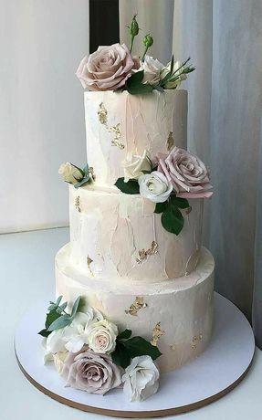Свадебный торт на заказ, очень вкусные