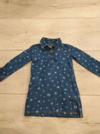 Dżinsowa sukienka  w gwiazdki roz 104