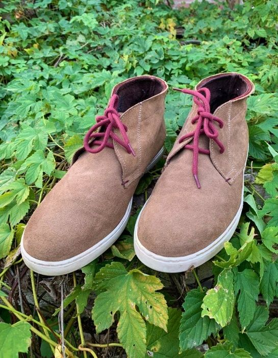 Стильные мужские кожаные ботинки чукка BATA р.43 демисезон (Швейцария) Киев - изображение 1