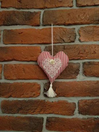 Ozdoba, dekoracja świąteczna zawieszka serduszko serce rękodzieło