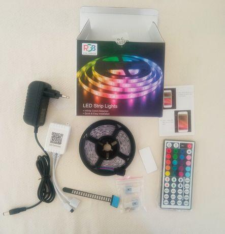 Cały zestaw taśma LED RGBW 5m prezent dla nastolatka
