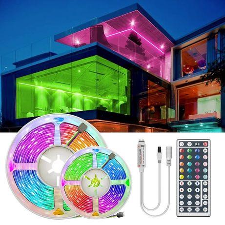 Светодиодная лента LED 5050 RGB 5м с пультом и блоком питания
