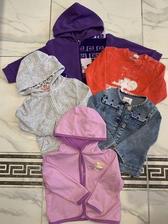 Набор кофт комплект кофточек Пакет вещей одежда 1-2года кофта пиджак