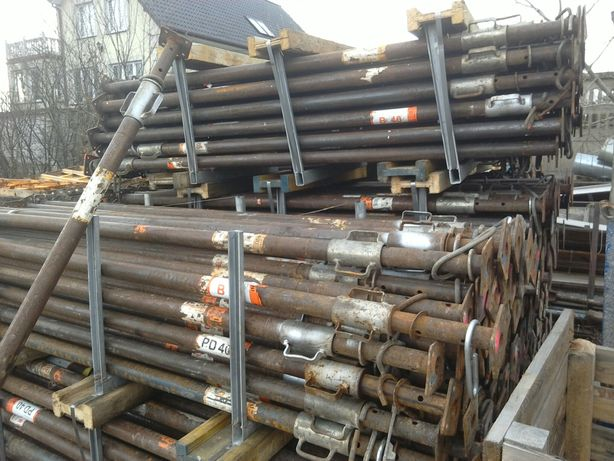 Podpory budowlane stemple metalowe budowlane reglowane 4m 20kn. Mocne.