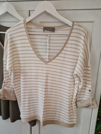 Komplet 3 częściowy  - bluzka , spodnie , sweterek , L , Studio Mody