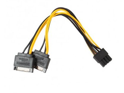 Переходник питания для видеокарт ATcom 2x SATA - Video PCI-e 8pin-