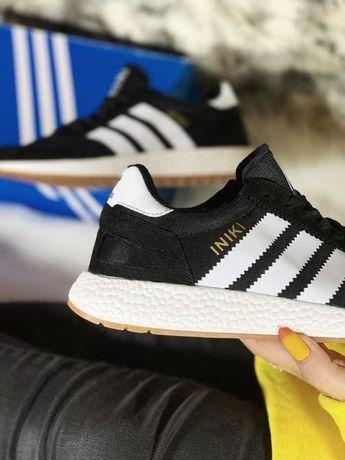 Мужские Adidas Iniki ТОП кроссовки Адидас Иники Черные изи буст 40-44