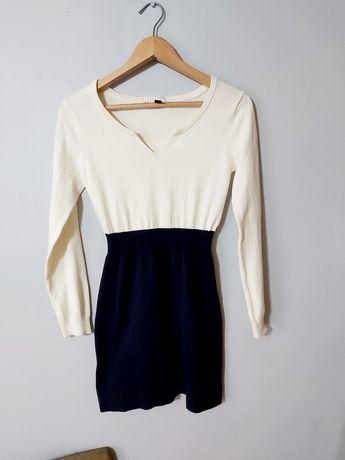Jesienna,sweterkowa sukienka / mango Basic/ rozm S