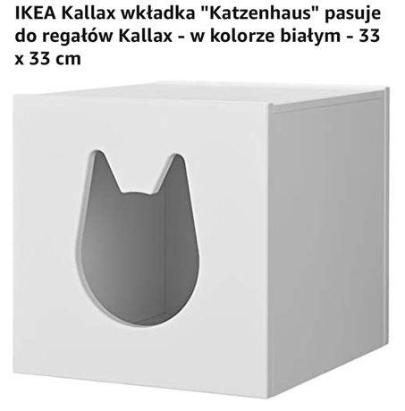 Domek dla kota Ikea Kallax wkładka Katzenhaus 33x33 cm biała legowisko