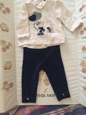 Два костюмчика для девочки 1-4 месяца