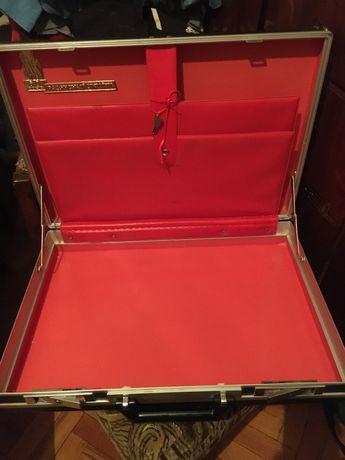 Кейс черный, дипломат СССР, чемодан для документов
