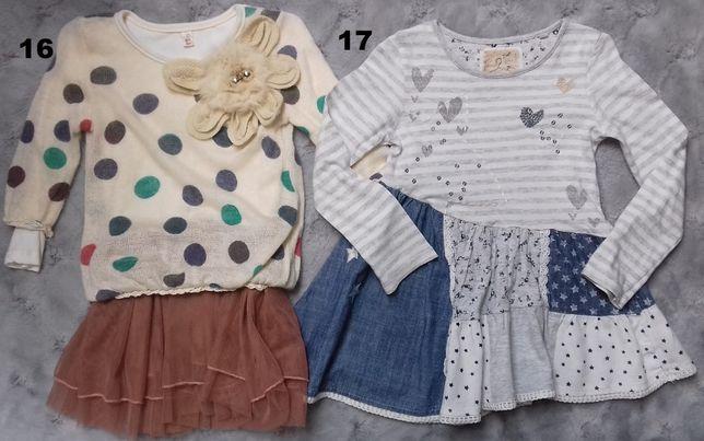 Bluzeczki-tuniki 3-4lata,4-5lat Gap,Next,TU,H&M Wiosna Lato Jesień