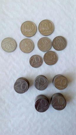Monety o nominale 20 50 i 100 złotych z roku 1989 i 1990