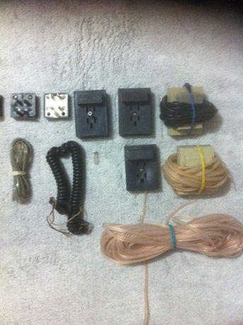 Комплект для подключения стационарного телефона(кабель, розетка и т.д)