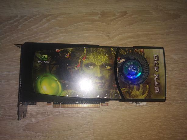 Прикольная видеокарта VGA-470 она же  GTX 470 монстр из 2010 на 1280mb
