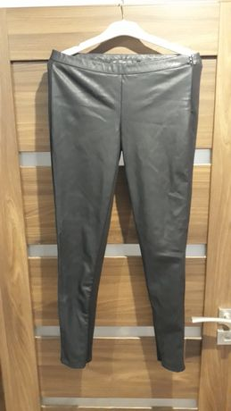 Spodnie legginsy skóra Zara