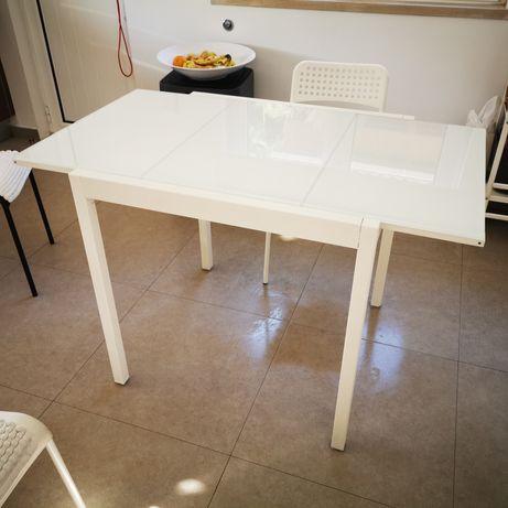 Mesa cozinha vidro com 4 cadeiras