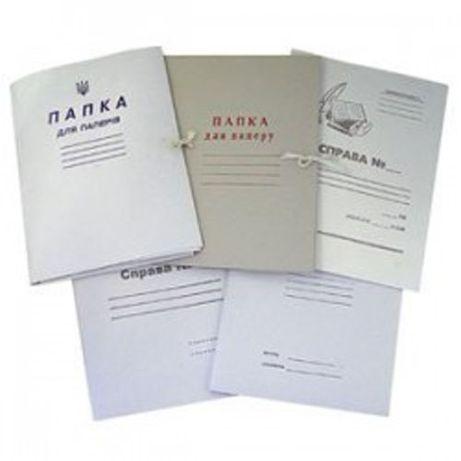 Папка картонна на завязках