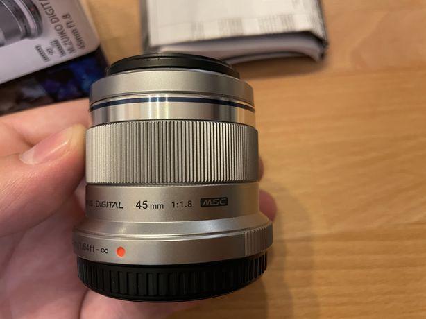 Obiektyw Olympus M.ZUIKO DIGITAL 45mm f 1.8 m4/3 mikro 4/3